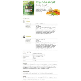 Adventure Food Vegetable Hotpot Einzelportion